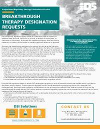 Breakthrough Therapy Designation Requests