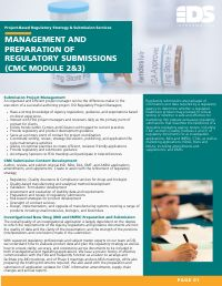 MANAGEMENT AND PREPARATION OF REGULATORY SUBMISSIONS