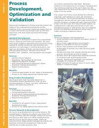 Process Development, Optimization and Validation