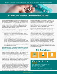 Stability Data Considerations