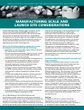 Manufacturing Scale and Launch Site Considerations