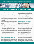 Control Strategy Considerations