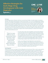 Effective Strategies for Early Stage Drug Development with Judy Magruder