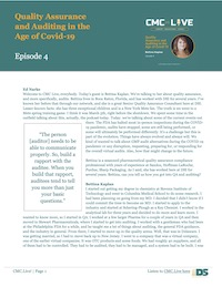 Quality Assurance and Auditing In The Age Of Covid-19 With Bettina Kaplan