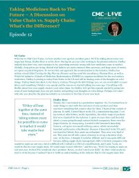 a discussion with Hedley Rees on Value chain vs. Supply chain: what's the difference?